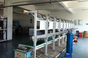 机械配件工作组生产线